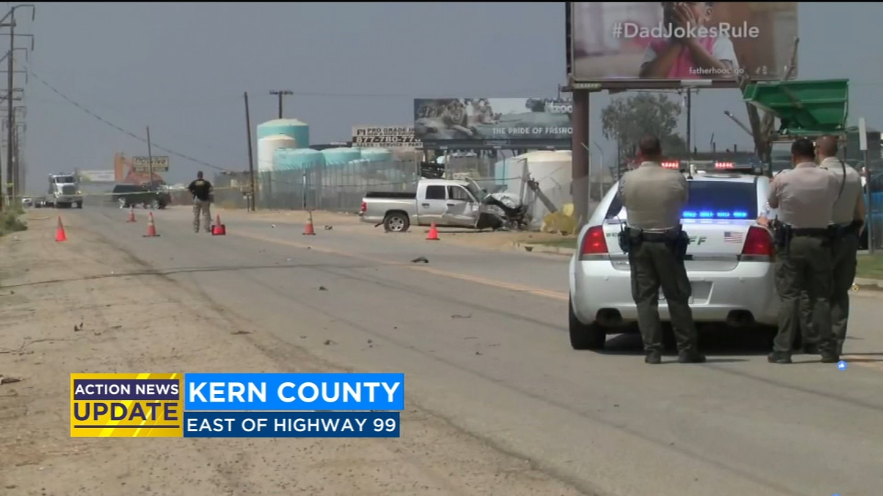 CHP says an officer responded to a crash east of Highway 99 near Merle Haggard Drive.