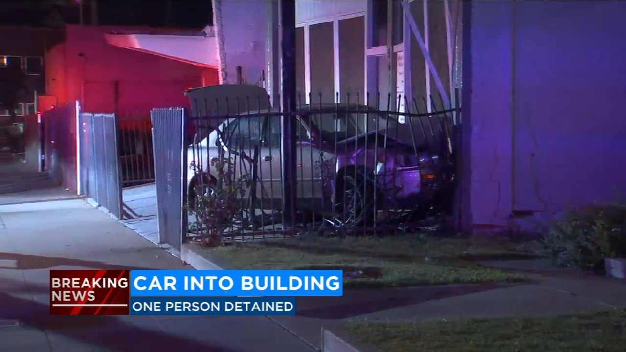 A vehicle crashed into the Aphesis Apostolic Ministry in Downtown Fresno on Monday morning.