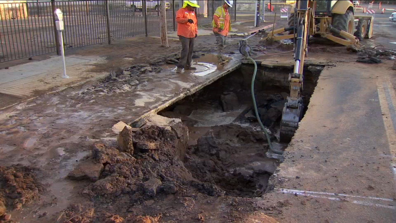 Crews will be working to finish up repairs and clean-up after a water main break left Chukchansi Park bone dry.