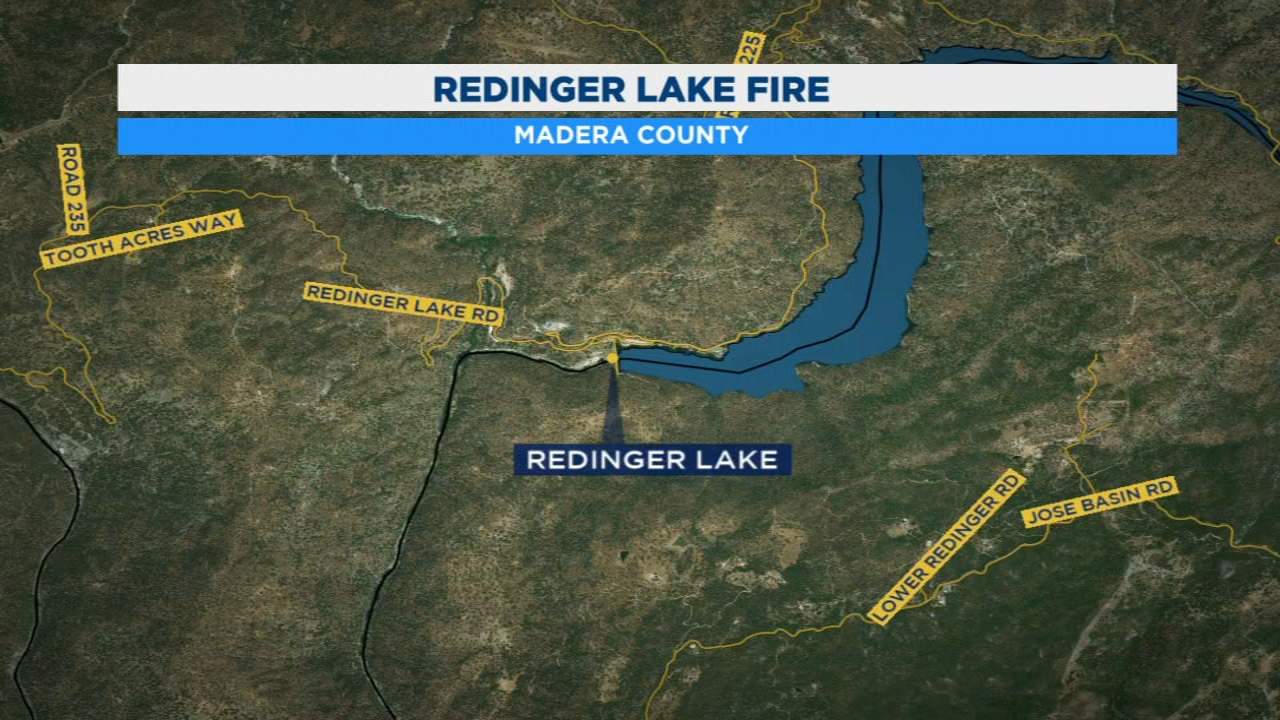 Firefighters are battling a wildfire burning near Redinger Lake, southeast of North Fork. So far it has consumed about 170 acres.