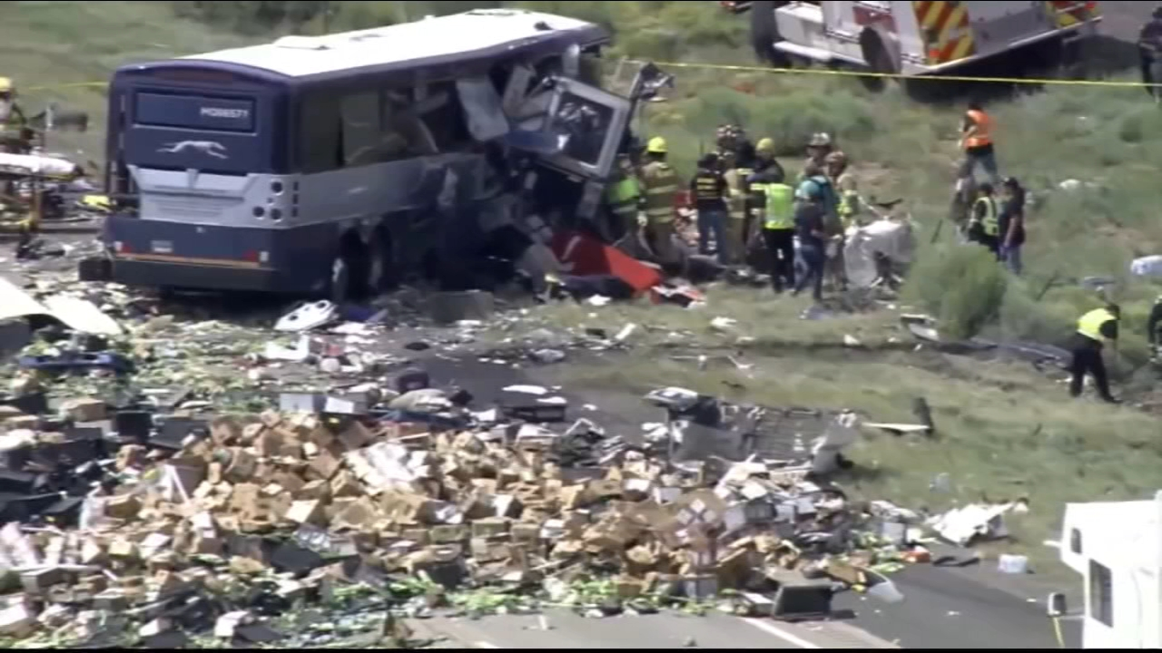 The death toll has climbed to eight after a Greyhound bus and tractor-trailer collided in a devastating crash in New Mexico.