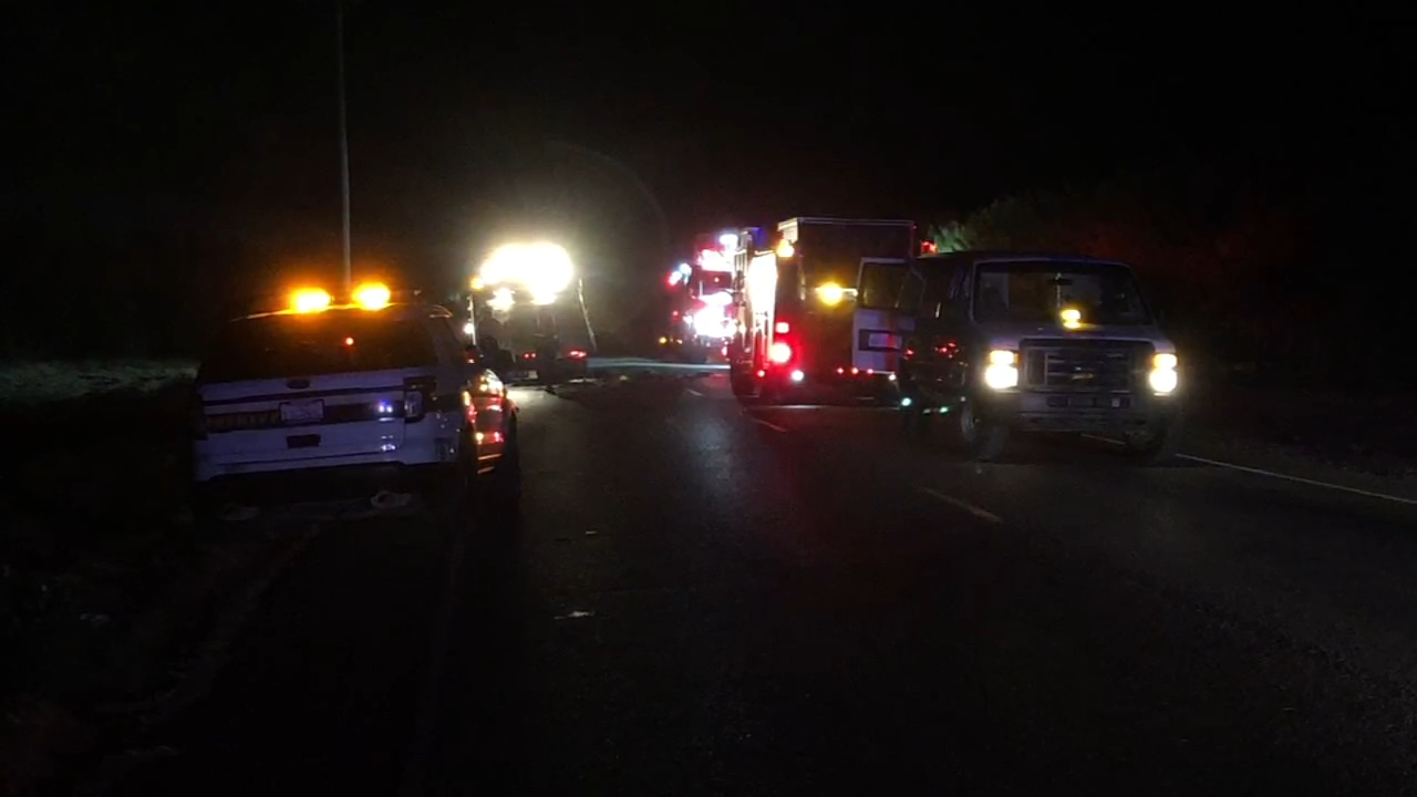 Officials were on scene of a deadly accident that closed the road in both directions near Shaw and Chateau Fresno in Fresno County.