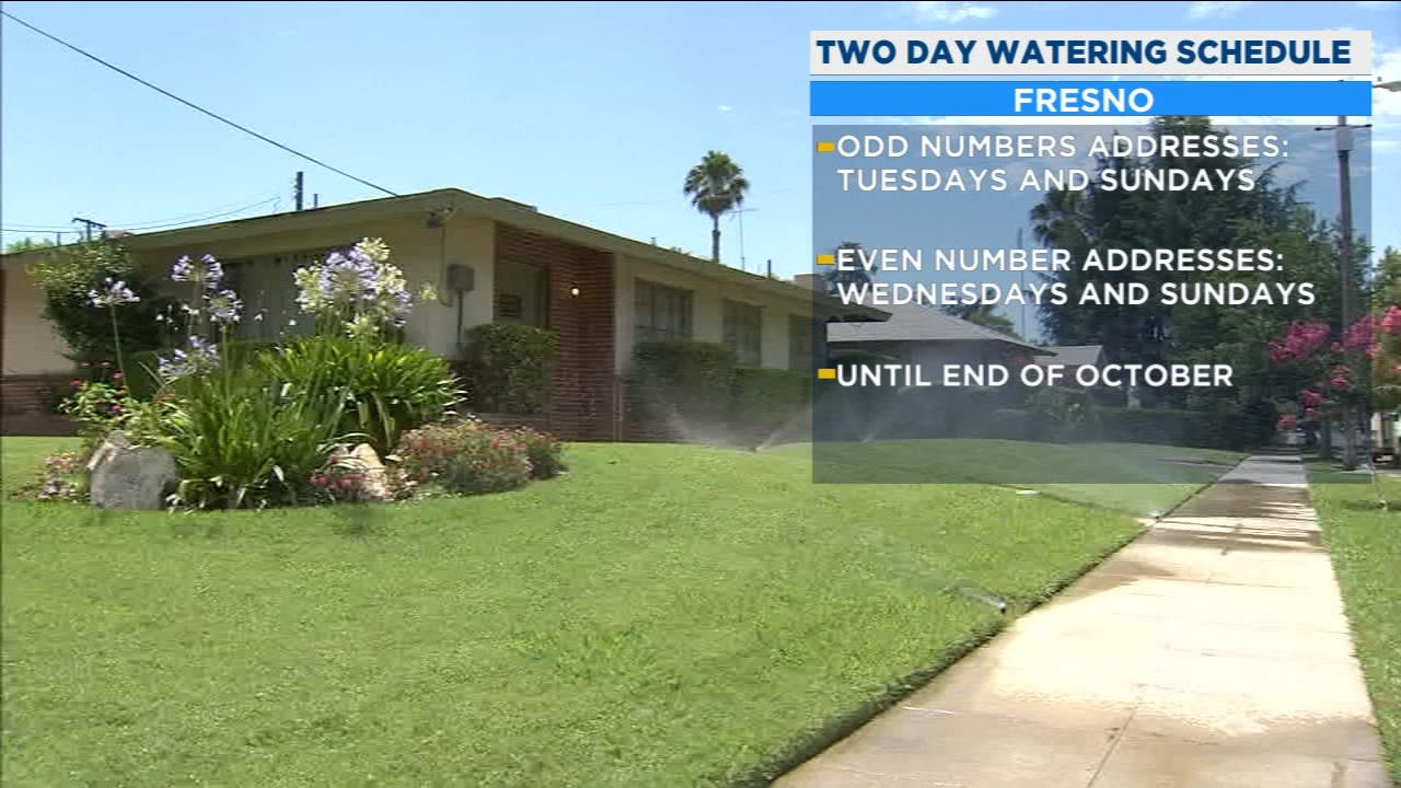 There is a new two day watering schedule for the City of Fresno.