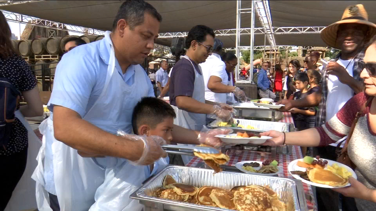 Hundreds of people came together, on Monday morning, to celebrate Labor Day.