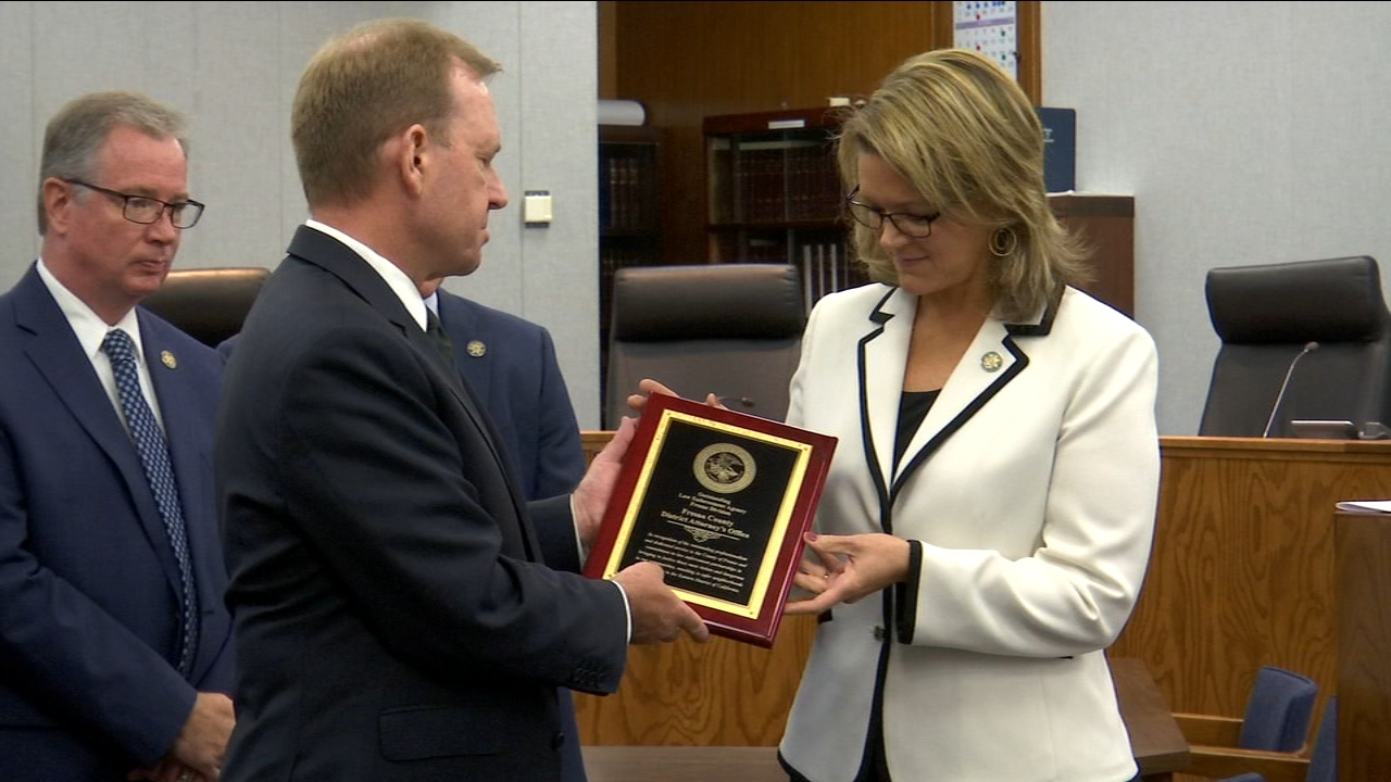 The Fresno County District Attorneys office received an award from the US Attorneys Office today.