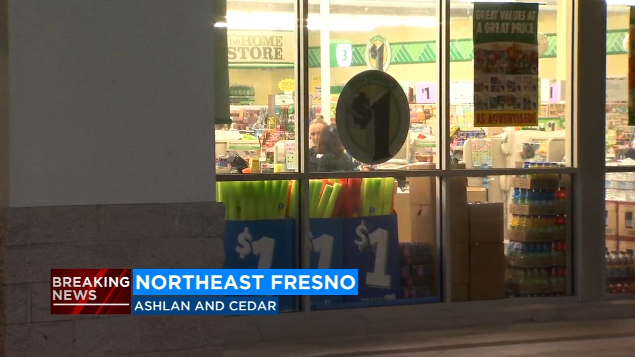 An armed man robbed the Dollar Tree in Northeast Fresno on Wednesday night.