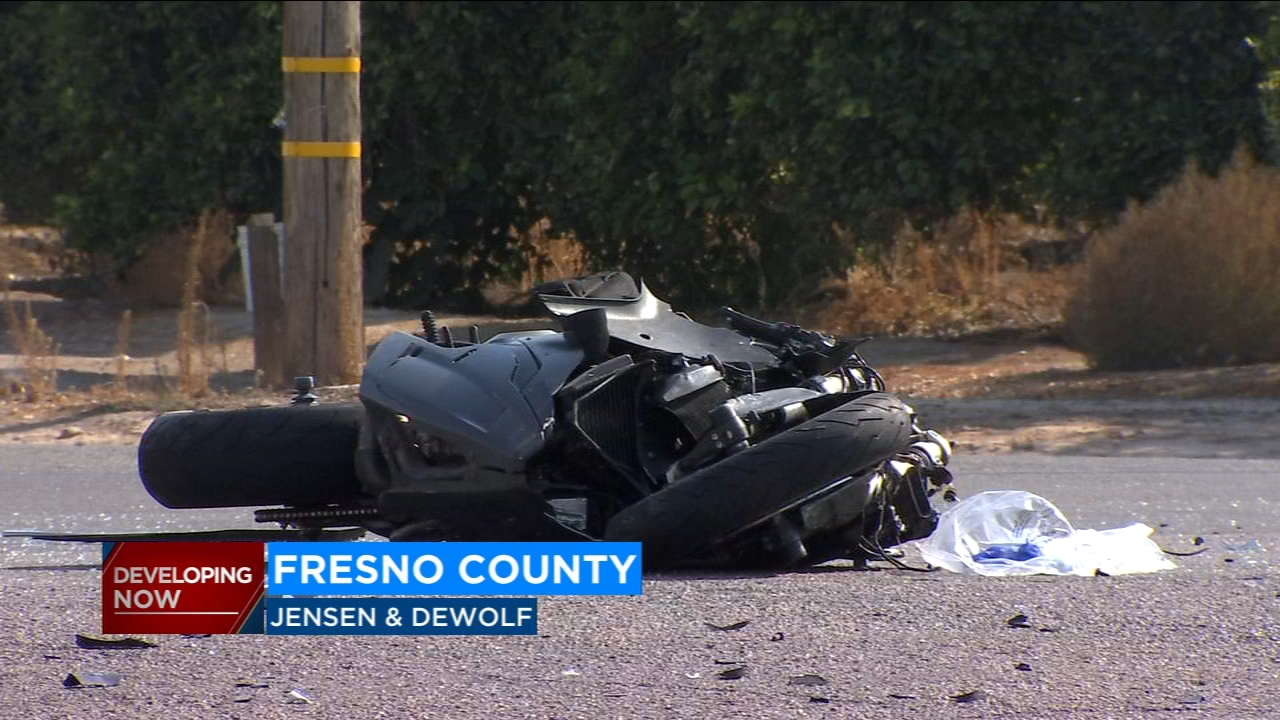 Highway Patrol officers are investigating a crash that killed a motorcycle rider in Fresno County.