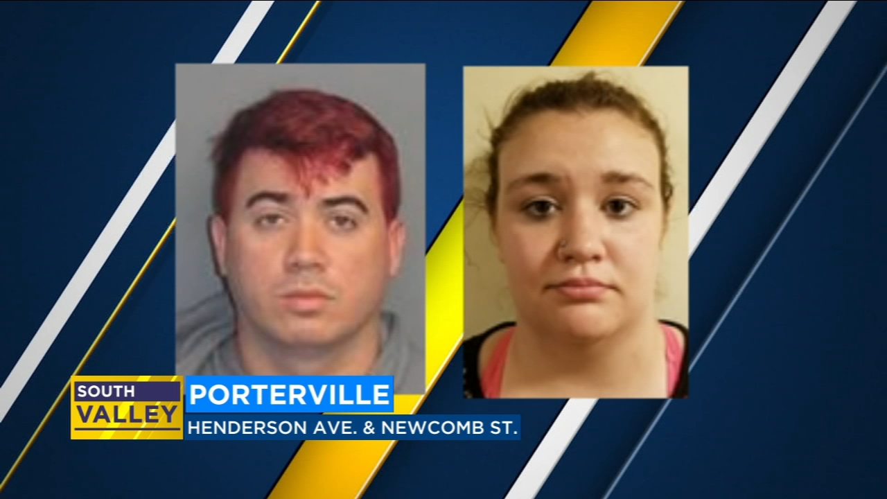 Police arrested two people in connection with an armed robbery in  Porterville.