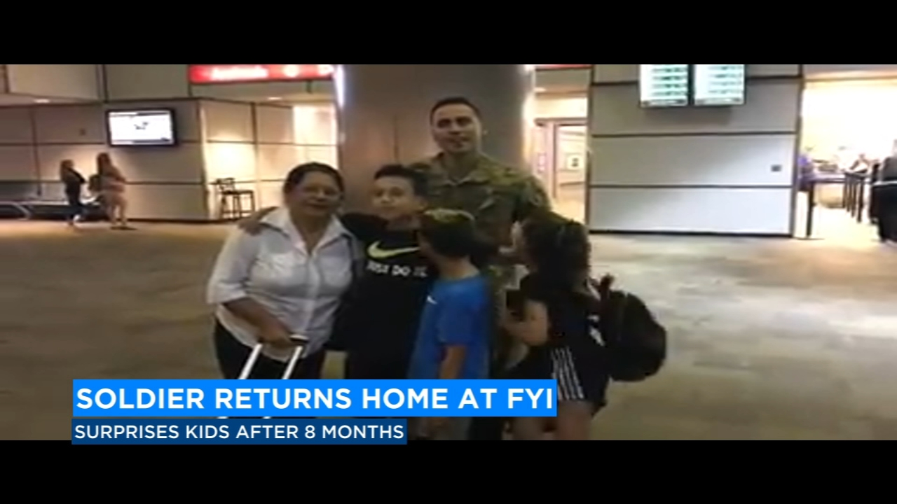 It was a heartwarming reunion for one family at the Fresno Yosemite International Airport last night.