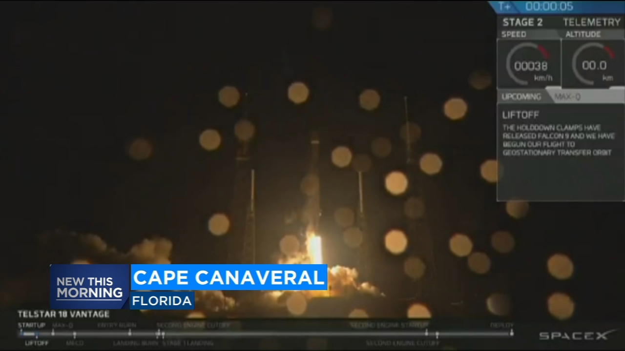 A Space-X Falcon 9 rocket is making its way into space Monday morning after a successful launch overnight.