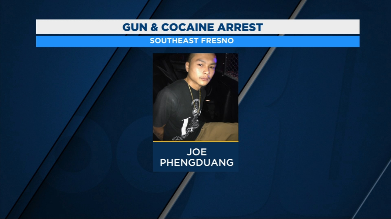 A man is in police custody after officers find a loaded gun and cocaine during a traffic stop in Southeast Fresno.