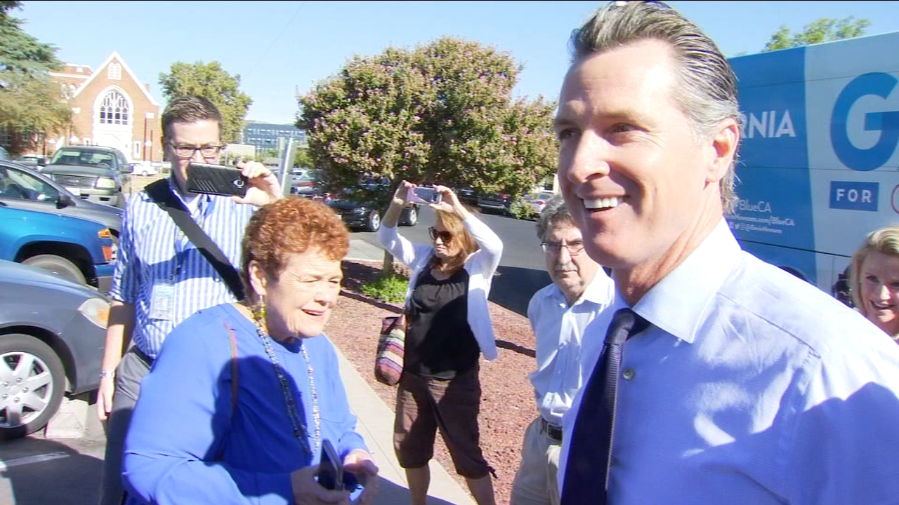 Democratic Gubernatorial candidate Gavin Newsom made a morning campaign stop in Fresno.