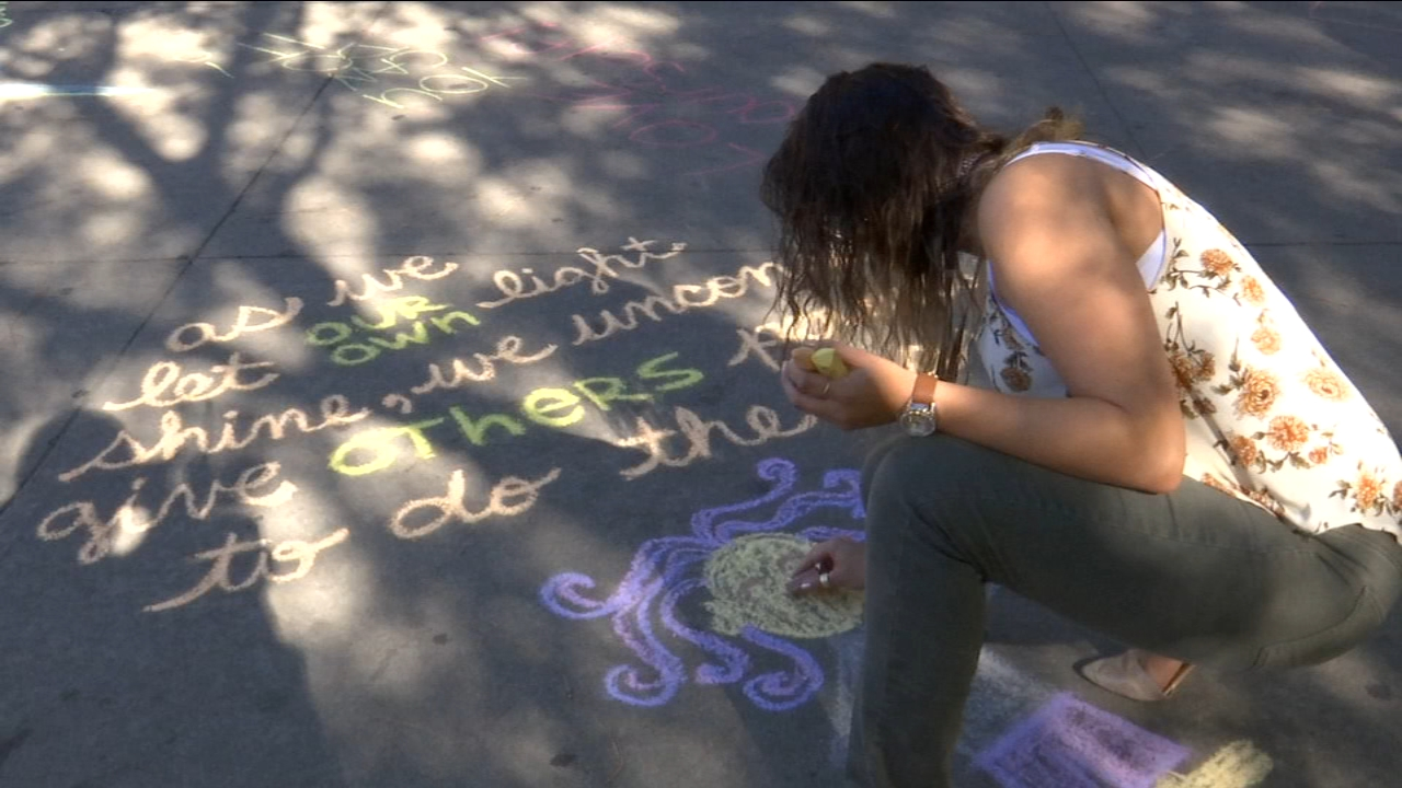 Through chalk messages, the Fresno City College Psychological Services department is destigmatizing mental illness.