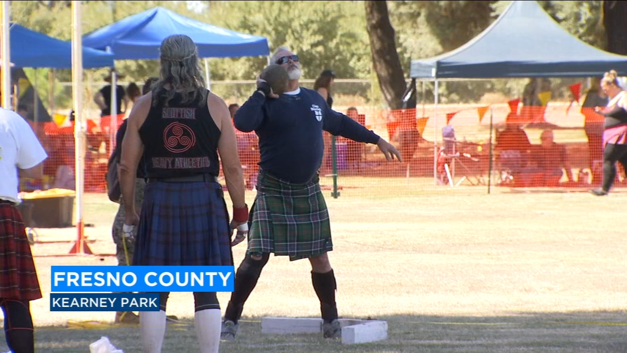 Dozens of athletes dressed in Scottish attire and competed in several traditional competitions.
