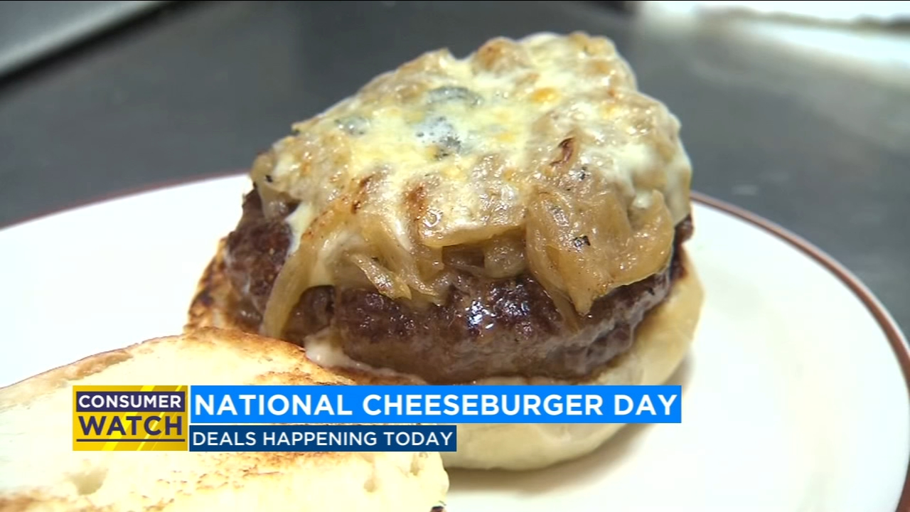Restaurants all over the country are offering deals today for National Cheeseburger Day.