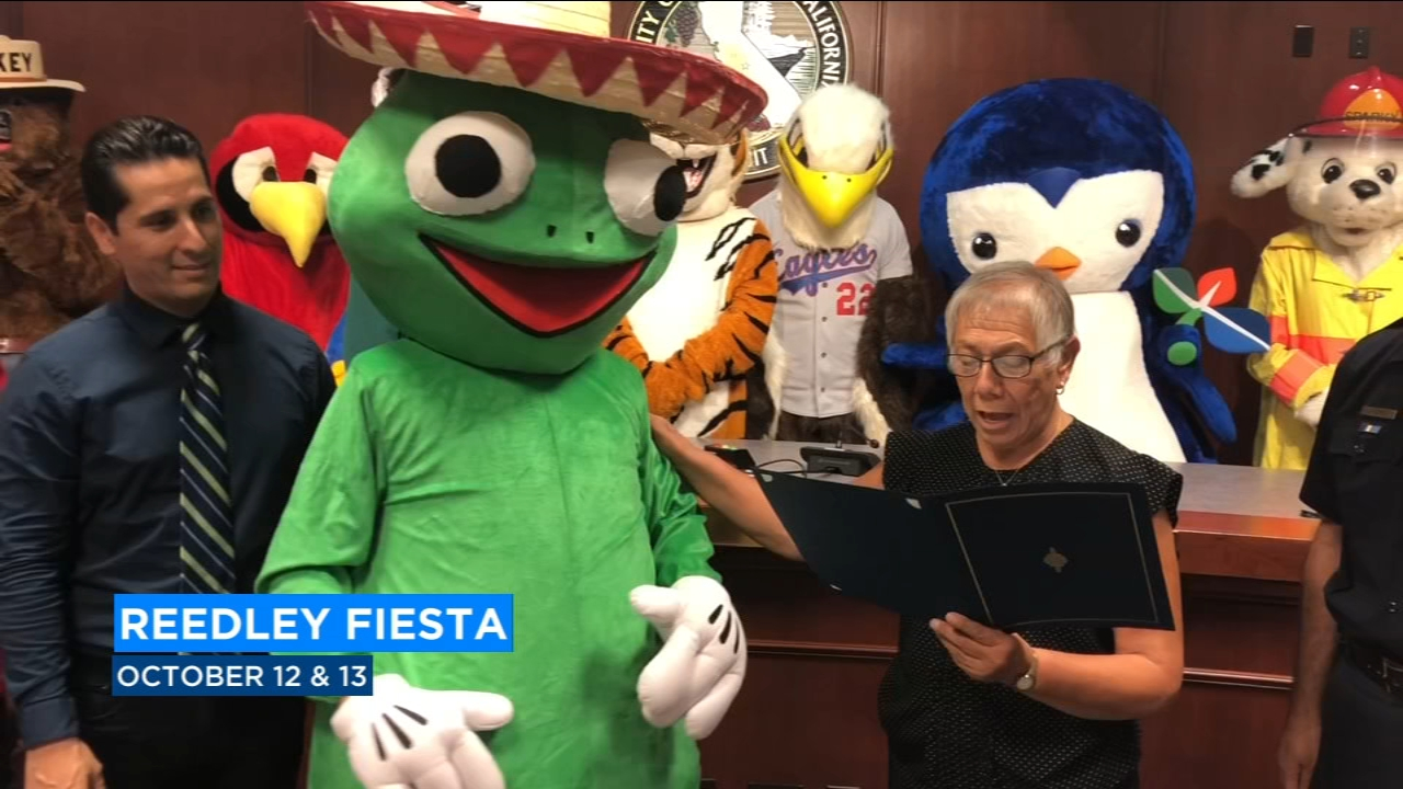 In Reedley, frogs are jumping into the spotlight for this year's Fiesta. The chamber of commerce introduced the new face of all the fun -- a frog mascot named Ribberto