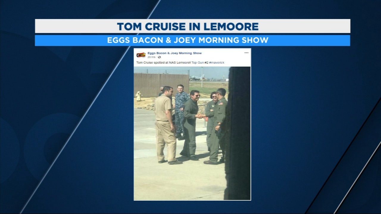 The first photo confirming movie star Tom Cruise was at Naval Air Station, Lemoore to film some of the scenes from the sequel to Top Gun has been shared online.