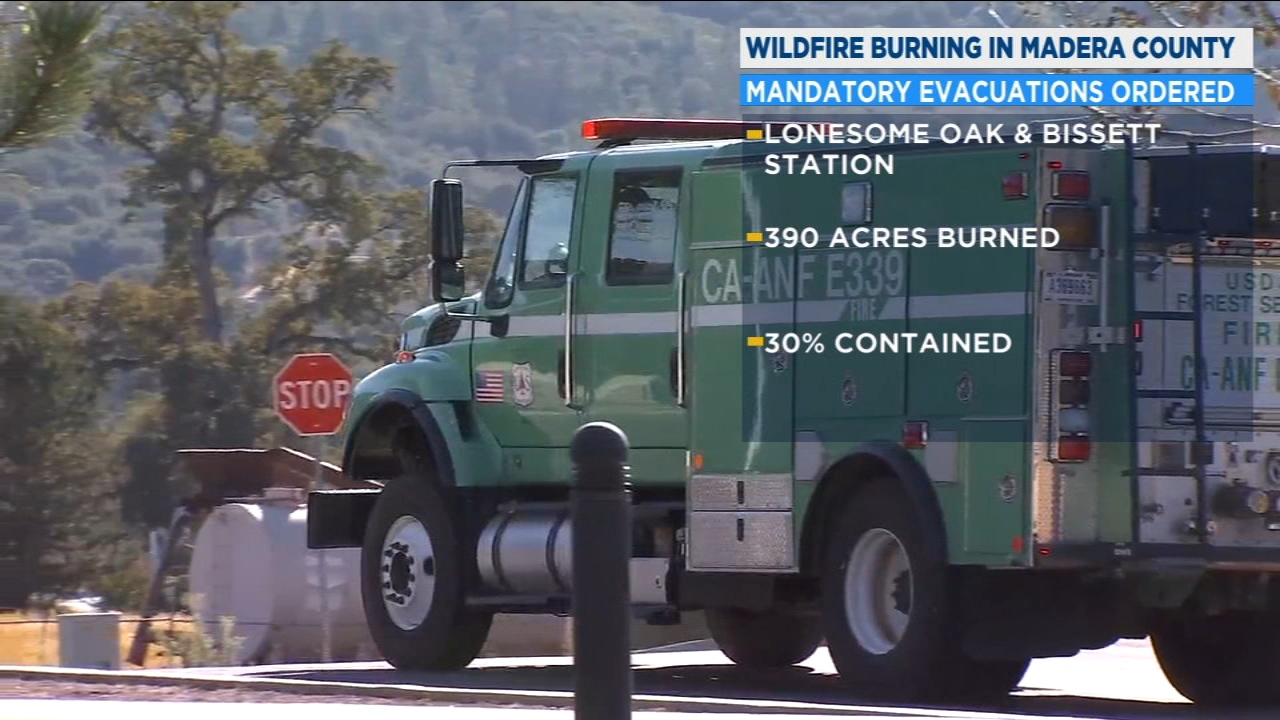 Evacuation orders are still in effect in Madera County as firefighters continue to battle the Oak fire, which has grown close to 390 acres.