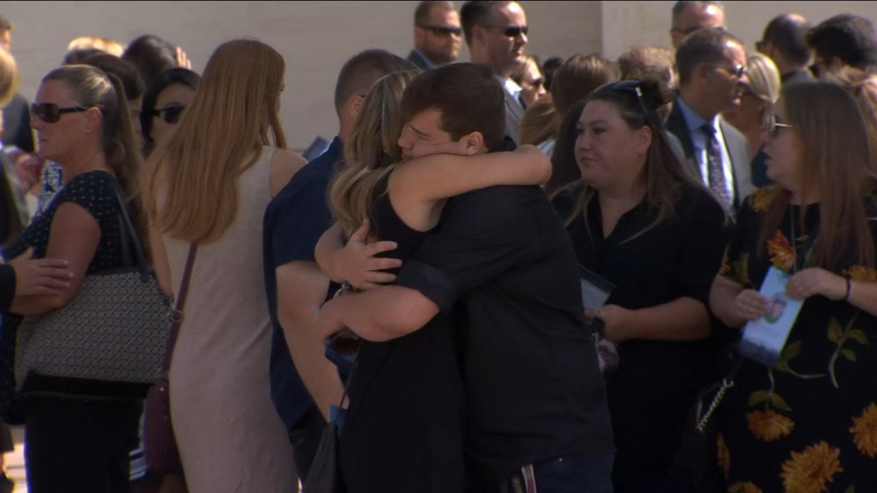 Friends and family said their final good-byes to Gavin Gladding, a Clovis Unified educator who was killed in a hit-and-run crash.