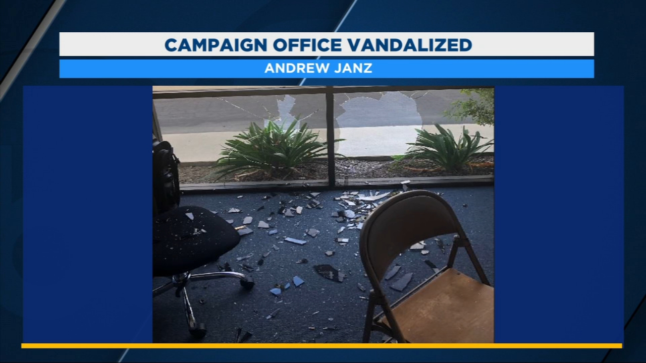 Clean-up and repair is underway at the South Valley campaign office of Congressional candidate, Andrew Janz.