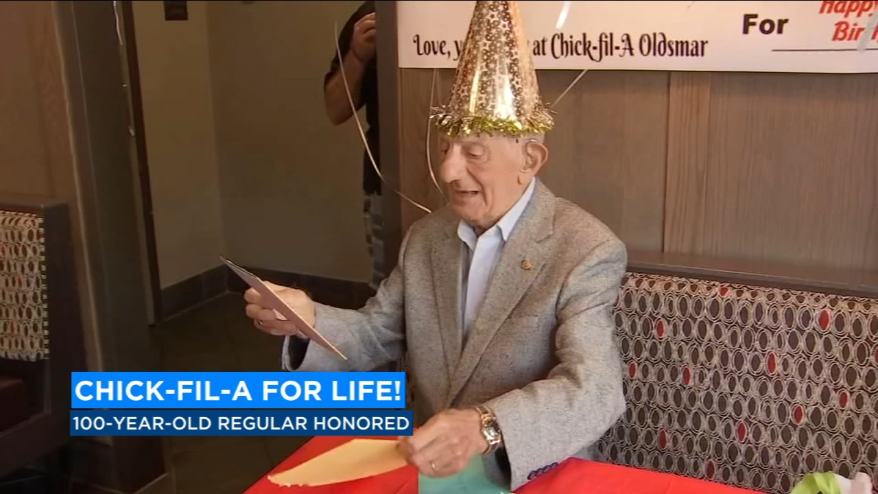 The staff at a Florida Chick-Fil-A hosted a very special party for a very special customer. One of the store's regulars just turned 100-years old.