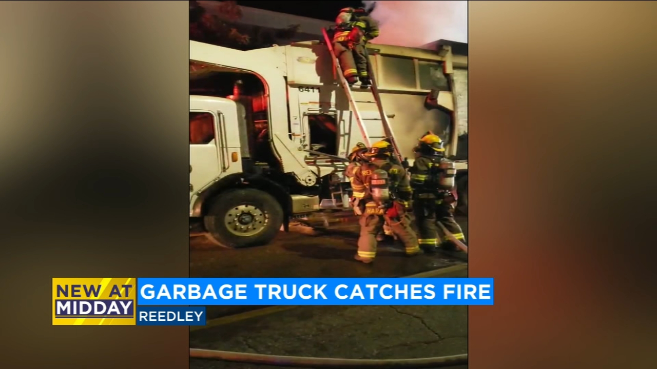 A city garbage truck is off its route in Reedley after it caught fire Monday morning. The fire started in the downtown area on 11th Street near G Street.