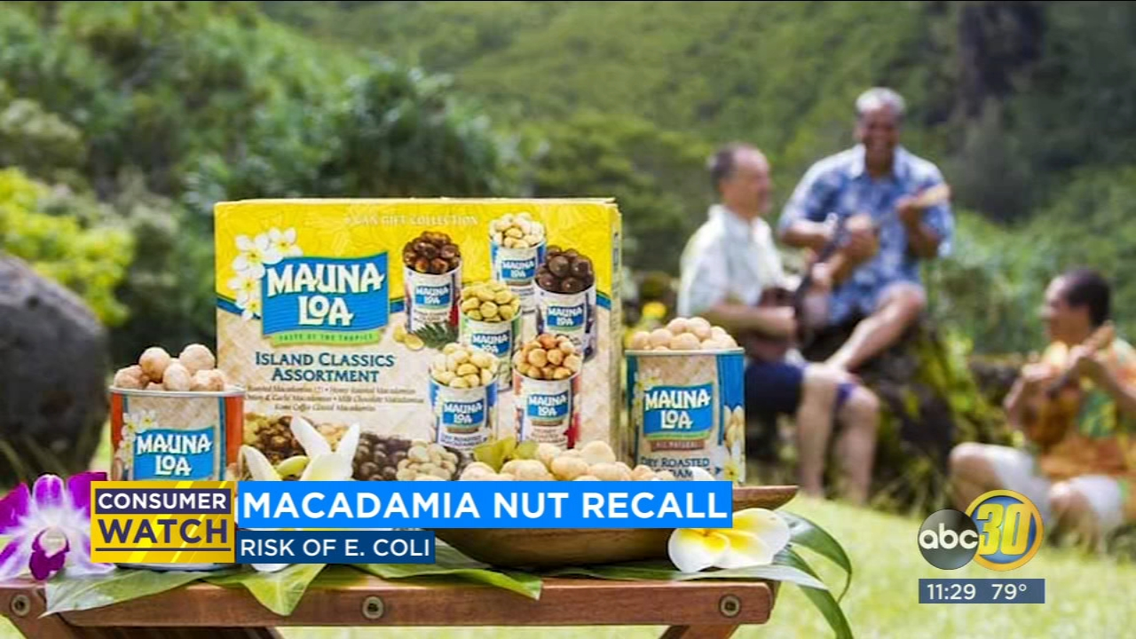 The Mauna Loa brand is voluntarily recalling all items produced at its facility in Hawaii -- after E. coli was found in the drinking water.