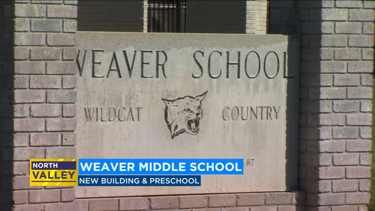 Weaver Middle Schools new building wing will be the main entrance on campus.