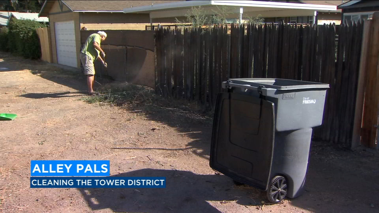 Dottie Chandler says their goal is to clean a total of 20 alleys over the next few months.