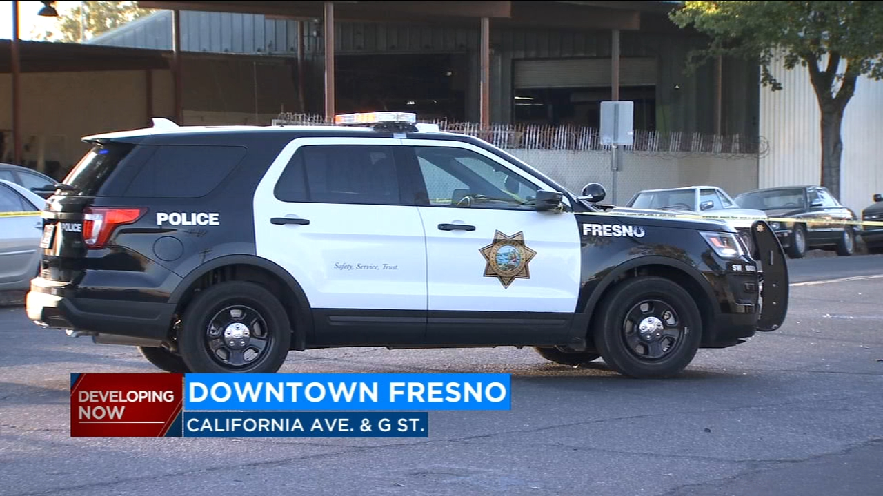 A man is in surgery and is being treated for injuries he sustained when he rode his motorized bike into a car in Downtown Fresno.