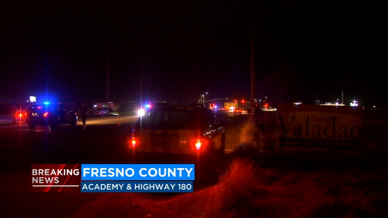A man crossing the road near Highway 180 and Academy Avenue in Sanger was struck by a pickup truck and killed, officials say.