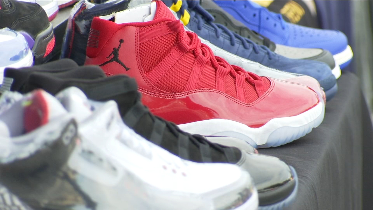 Organizers say they also collected sneakers for the homeless community.