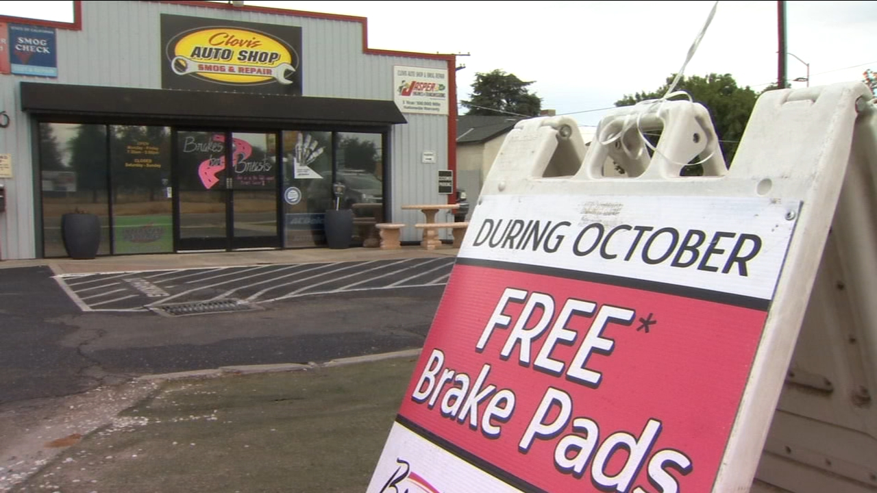 Clovis Auto Shop raising awareness about Breast Cancer one brake at a time