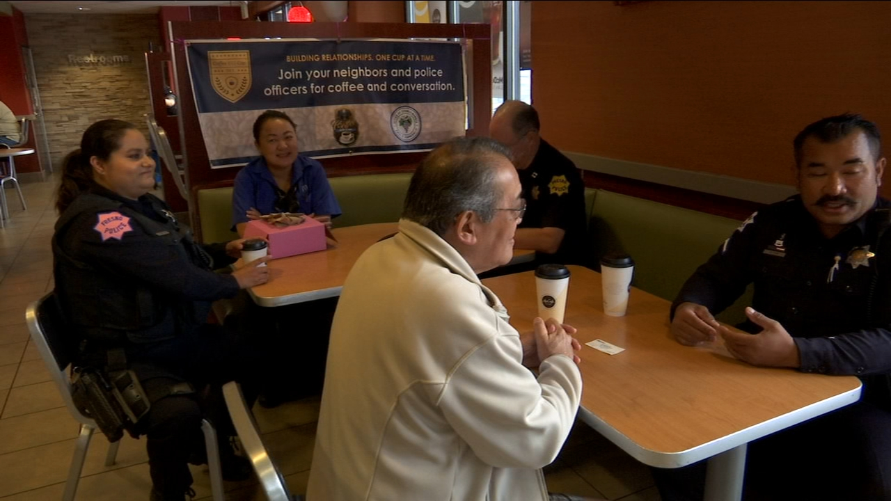 Police Nationwide and locally celebrate National Coffee with a Cop Day