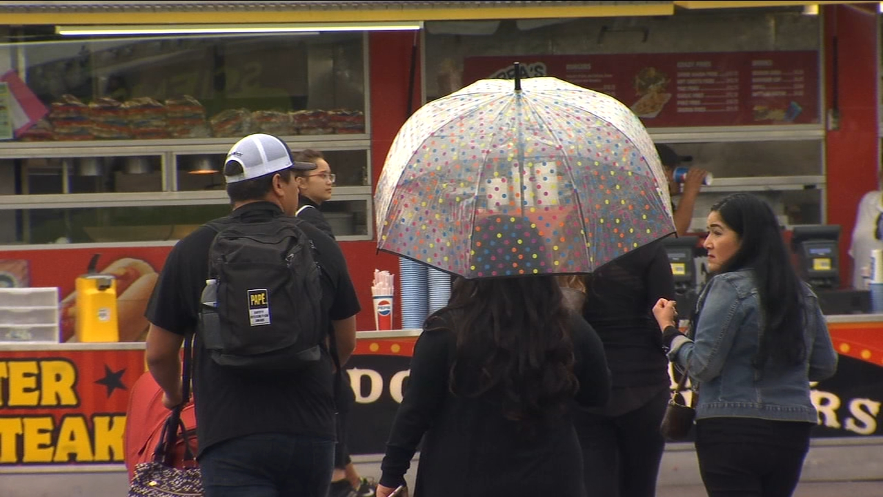 Many fair goers were ready with umbrellas in hand the moment the gates opened to this years Big Fresno Fair.