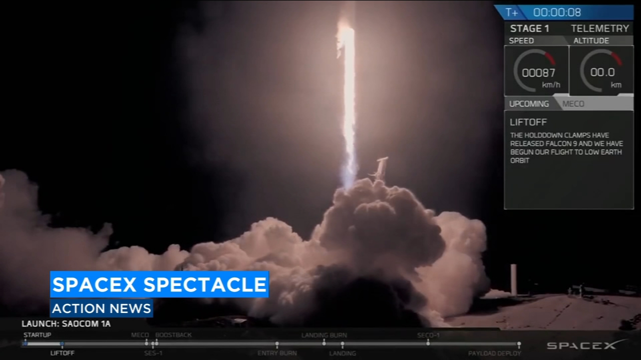 A SpaceX Falcon 9 rocket carrying an Argentinian satellite has blasted off from California.