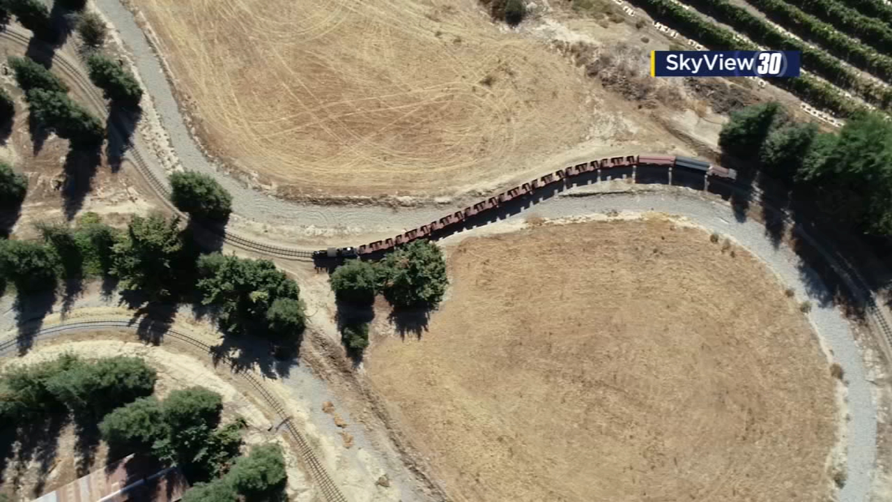 SkyView30 gives us a birds-eye view of the steam trains at Hillcrest Farms in Reedley