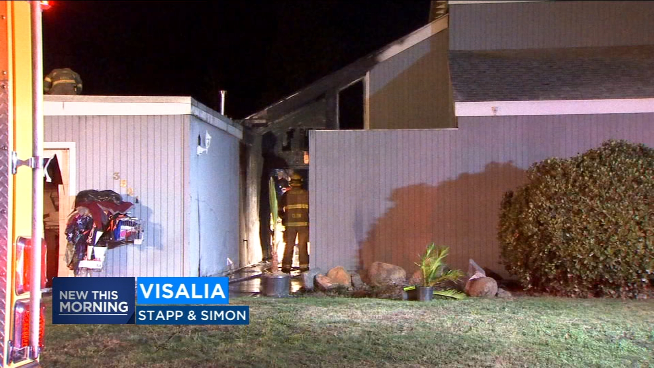 An investigation is underway to determine what sparked a fire that engulfed a 2-story home in Visalia.