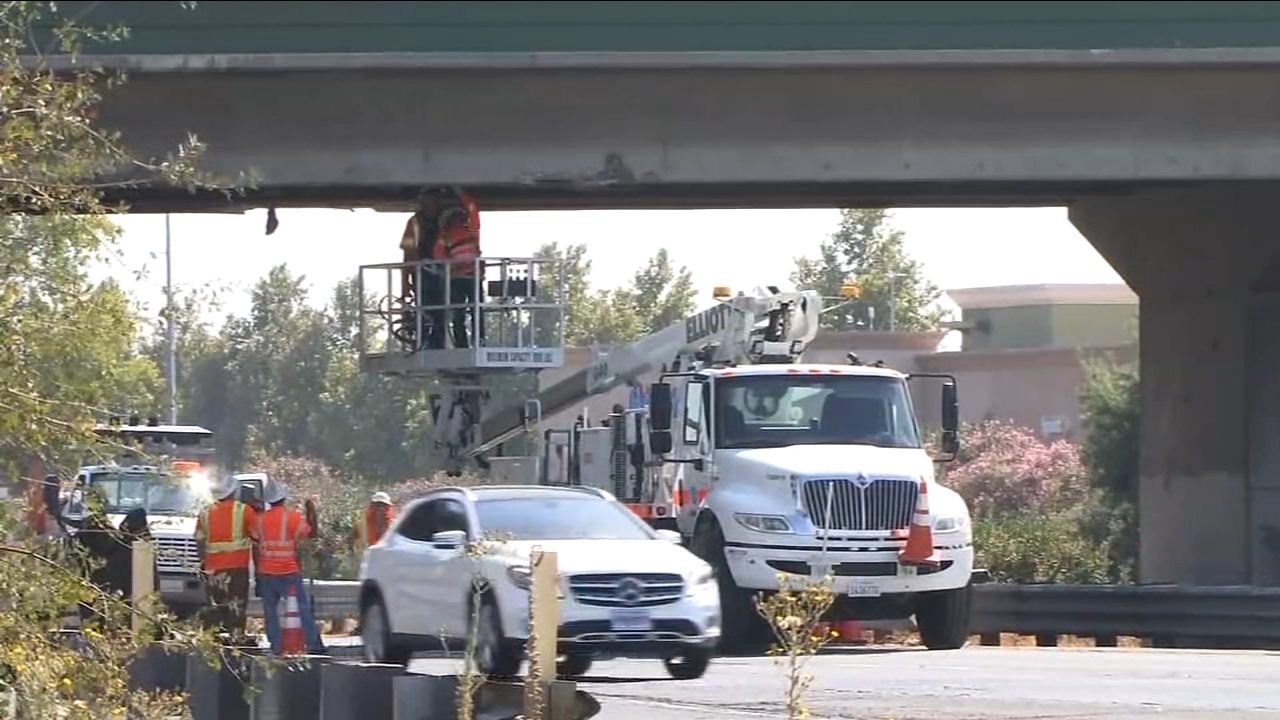Atwater overpass closed indefinitely after semi-truck collision