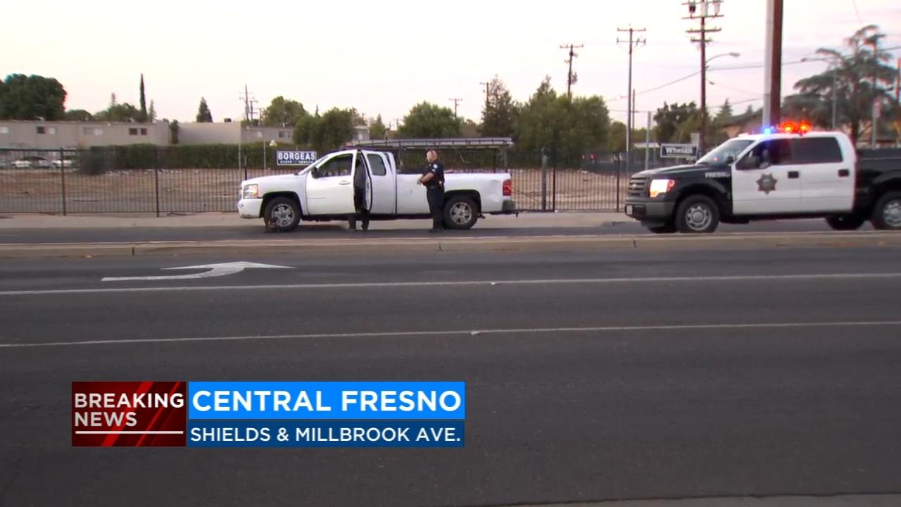 The Fresno Police Department says a woman was hit and killed by a car in Central Fresno.