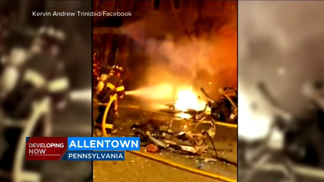 Autopsies are planned today on the bodies of three people found dead after a car explosion that rocked a Pennsylvania neighborhood
