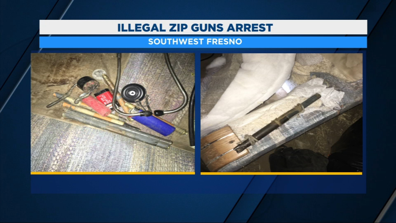 Fresno Polices Shottspotter technology helps lead to the discovery of half a dozen illegal zip guns.