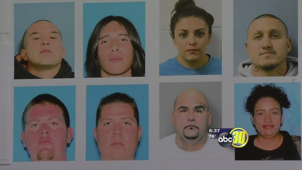 52 arrested in Tulare County Norte?o gang sweep