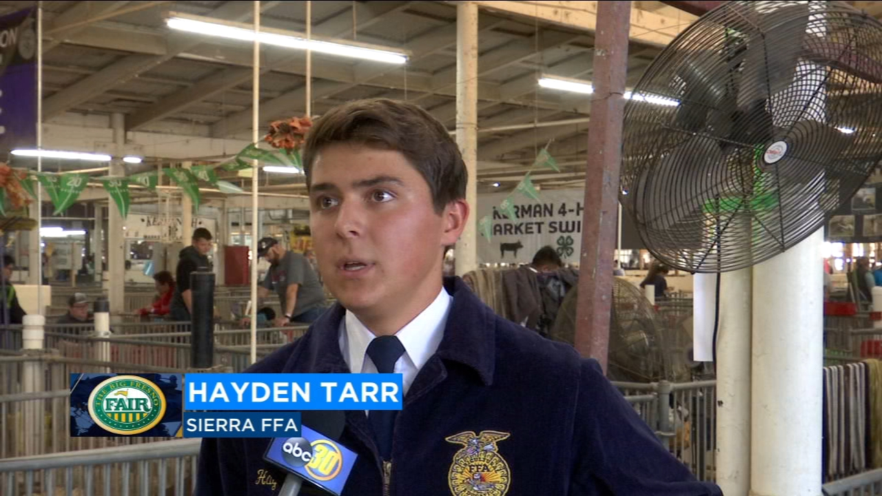 A 16-year-old  FFA student decided to donate all his money earned to support veterans.