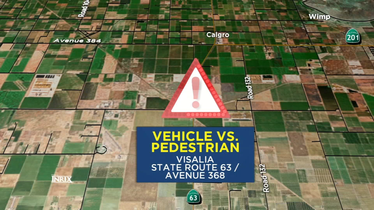 State Route 63 was closed in both directions for several hours tonight in Visalia after a car hit a person on the highway.