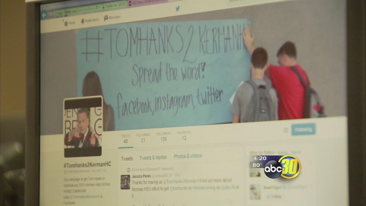 Tom Hanks makes short video for Kerman High homecoming