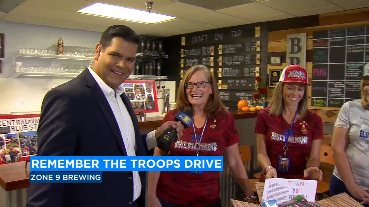 Central Valley Blue Star Moms run Remember the Troops drive