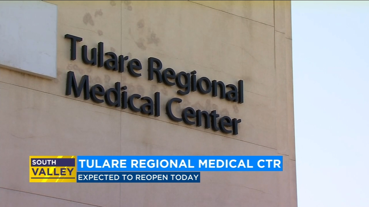 Tulare Regional Medical reopens today