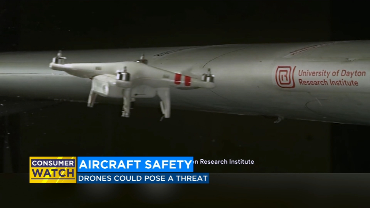 Study says drones could pose threat to aircraft safety
