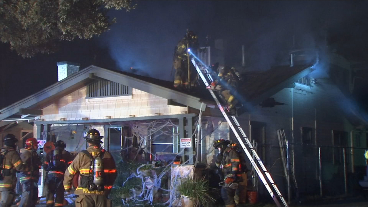 The Fresno Fire Department says a toddler knocked over a candle, which sparked a 2-alarm house fire in Southeast Fresno.